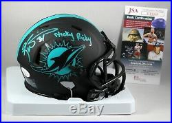 Ricky Williams Signed Miami Dolphins Eclipse Mini Helmet NFL Inscription Jsa Coa