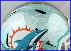 Ricky Williams Signed Miami Dolphins F/S Chrome Helmet with 3 Insc- JSA W Auth