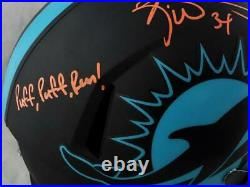 Ricky Williams Signed Miami Dolphins F/S Eclipse Helmet with SWED JSA W Auth