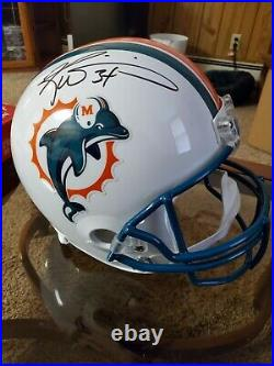 Ricky Williams Signed Miami Dolphins FULL SIZE HELMET(Schwartz Sports COA)