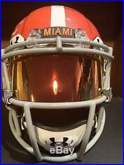 Ricky Williams Signed Miami Dolphins Speed Authentic Helmet Hydro Dipped