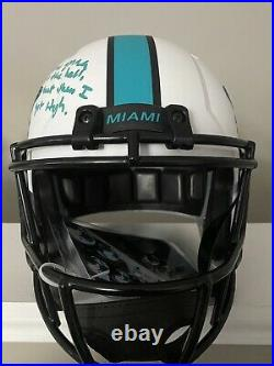 Ricky Williams Signed Miami Dolphins Speed Full Size Lunar NFL Helmet with I Wa