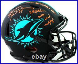 Ricky Williams Signed Miami F/S Eclipse Authentic Helmet with3 Insc-Beckett W Auth