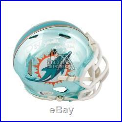 Ricky Williams Smoke Weed Everyday Autographed Dolphins Chrome Mini Helmet BAS