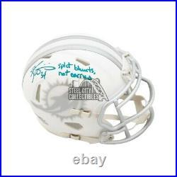 Ricky Williams Split Blunts Autographed Dolphins Ice Mini Football Helmet BAS
