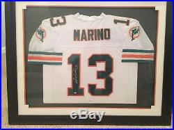 Signed Framed Dan Marino Jersey