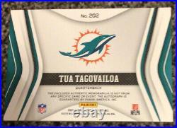 TUA TAGOVAILOA Certified Freshman Fabric Auto Autograph Patch Jersey /125 RC