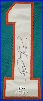 TUA TAGOVAILOA Signed Autographed MIAMI DOLPHINS Custom sz XL Jersey. BECKETT