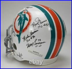 Team Signed Miami Dolphins T/b Helmet 1972 17-0 Rare! Griese Shula