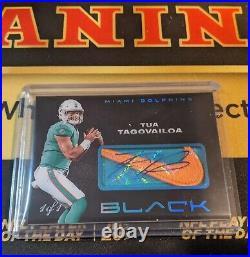 Tua Tagovailoa 2020 Panini Black RPA 1/1 Auto Nike Logo Patch RJA-TT Dolphins