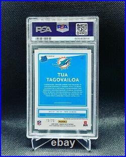 Tua Tagovailoa 2020 Panini Donruss Optic Blue Rookie Auto 75/75 PSA 9 / Auto 10
