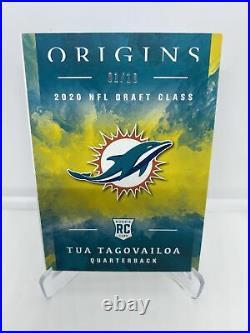 Tua Tagovailoa 2020 Panini Origins RPA Booklet Dolphin Patch 1/10