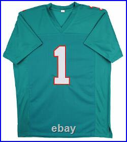 Tua Tagovailoa Authentic Signed Teal Pro Style Jersey Autographed BAS