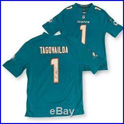 Tua Tagovailoa Autographed Miami Dolphins NFL Nike Game Football Jersey Fanatics