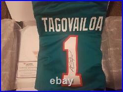 Tua Tagovailoa Autographed Miami Dolphins NFL Nike Game Jersey COA Fanatics