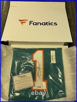 Tua Tagovailoa Dolphins Autographed Fanatics Authenticated Nike Game Aqua Jersey