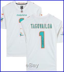 Tua Tagovailoa Miami Dolphins Autographed White Nike Game Jersey Black Ink