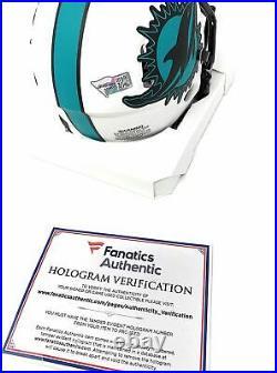 Tua Tagovailoa Miami Dolphins Signed Autograph LUNAR ECLIPSE Speed Mini Helmet F