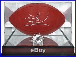 Tua Tagovailoa Miami Dolphins Signed Football & Mahogany Case eBay Exclusive