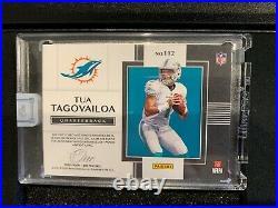 Tua Tagovailoa Panini One RPA On Card Auto 3 Color Patch 8/10 112 RC