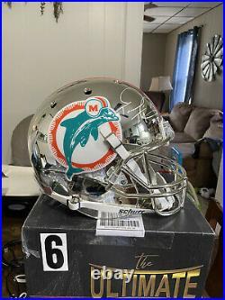 Tua tagovailoa chrome Miami Dolphins Replica. Signed #13 RARE (FULL SIZE)