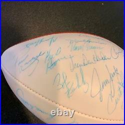 Vintage 1972 Miami Dolphins Super Bowl Champs Team Signed Football (40+) JSA COA