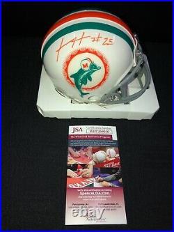 Xavien Howard Miami Dolphins Throwback Signed Mini Helmet Jsa Coa Wpp269016