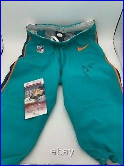 Xavien Howard Signed Miami Dolphins Game Used 2017 Size 28 Pants JSA Photo