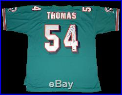 Zach Thomas Autographed Signed Miami Dolphins #54 Mitchell & Ness Jersey Beckett